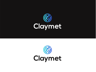 claymet- logo design proposal minimalist gradient vector logotype graphicdesign finance app application finance adobe illustrator logodesign branding logo