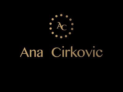 Ana Cirkovic logo logotipo adobe illustrator visual design graphic  design monogram logo logotype minimalist logo minimalist monogram logodesign branding logo