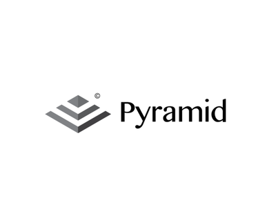 pyramid concept logo logomark pyramid graphic  design logodesign minimalist design logotype negative space minimalist logo logotipo adobe illustrator branding logo