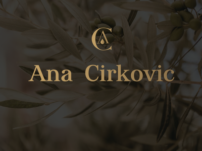 Ana Cirkovic logo minimalist logo logodesigner logodesign adobe illustrator olive oil graphic  design vector monogram letter mark minimalist monogram logotype logo branding