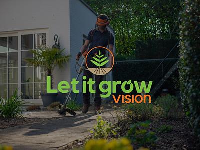 let it grow- gardening logotipo nature logo logodesign logo adobe illustrator minimalist logo logo mark graphic  design gardening ecology logomark logotype branding