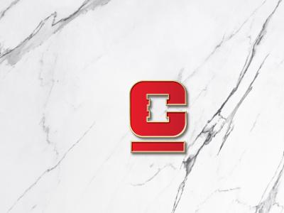 C hammer monogram visual design vector logotipo minimalist logo graphic  design branding selling hammer logomark negative space logo minimalist auction letter c monogram