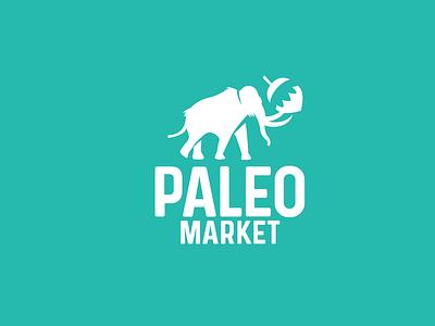 paleo market visual design adobe illustrator minimalist graphic  design hazelnut mascot logotype branding food shop animal logo minimalist logo negative space logo mark mammooth