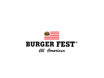 burger fest logo visual design black adobe adobe illustrator graphic  design burger logotype vector logodesign branding logo