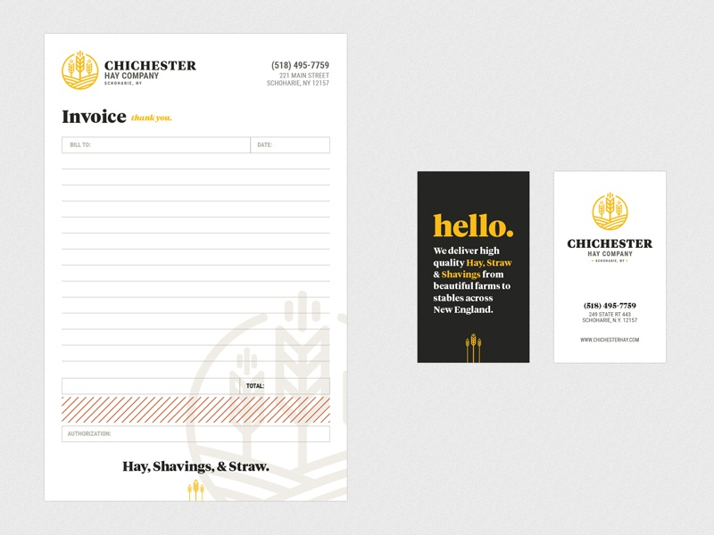 invoice bill pad design with identity and business cards logo identity branding ncr bill pad