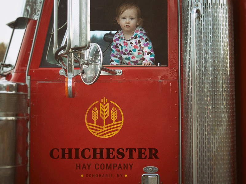 Chichester hay logo on truck