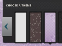Settings & Theme Panel for iPad app