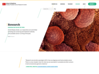 Landing Page - Research Section header/hero area