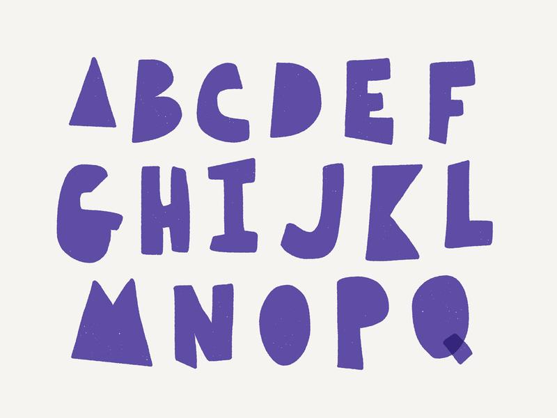 Letters purple alphabet letters color typography illustration design