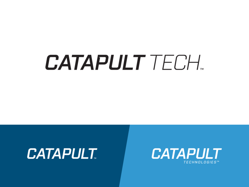 Catapult Tech lockup design identity technologies tech logo tech catapult typography logotype logo color