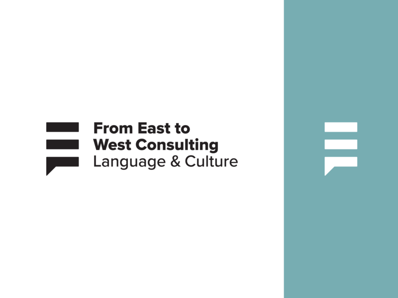 From East To West Language & Culture Consulting west east culture mark icon lockup logotype vector logo design