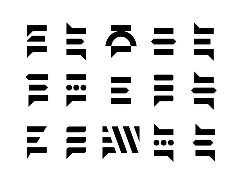 From East To West Consulting letterform brandmark mark icon symbol symbol west e east logomaker logomark mark icon logo vector design