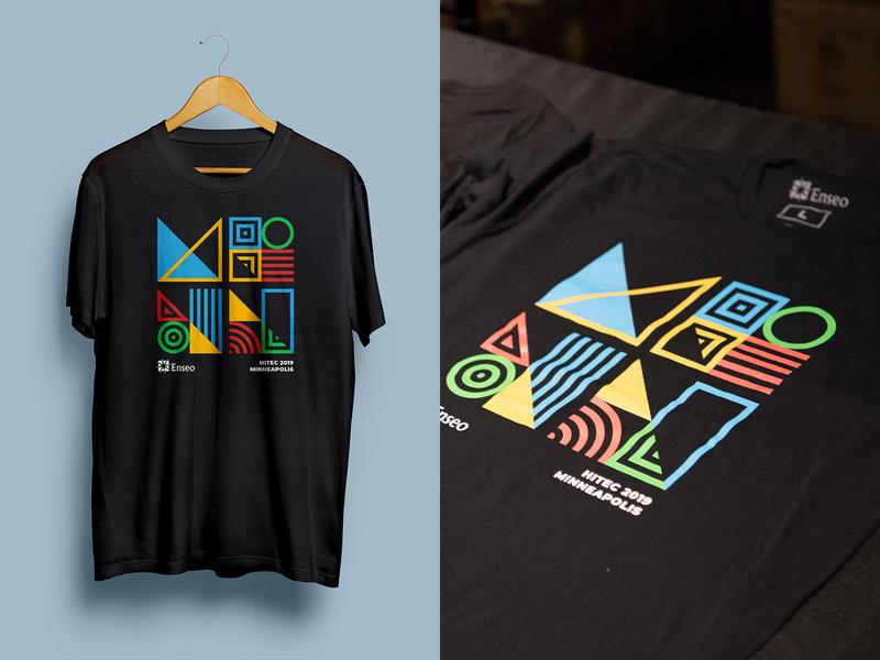 Hitec 2019 Shirt shirt mockup color shapes pattern native american minneapolis tshirt shirt design shirt vector design