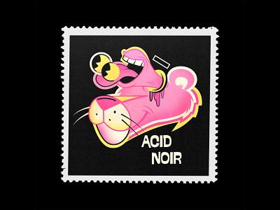 Do not use drugs weirdart popsurrealism lowbrow mad acid pink panther drug lsd cartoon character vector design fun cartoon character illustration