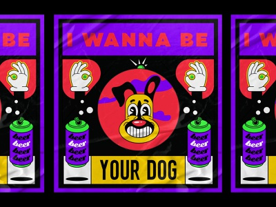 i wanna be your dog😎 poster illustration poster design poster art poster weird pop art popsurrealism lowbrow cool design dog 1930 vintage retro character cartoon fun old school old cartoon cartoon character illustration