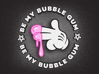 be my bubble gum weird lowbrowart popsurrealism lowbrow hand postcard satanic bubblegum romantic love 40s 30s 1930s 1930 vintage retro old school fun old cartoon illustration