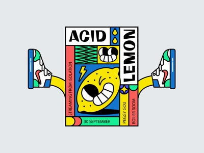 👀🍋 mad love music art fun cartoon illustration poster art poster collection acid graphics acid sneakers sneaker poster design poster cool cool design lemon