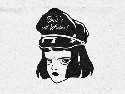 Police Girl illustration police brutality 90s woman character girl police lowbrow retro 1930s 1930 vintage old cartoon old school