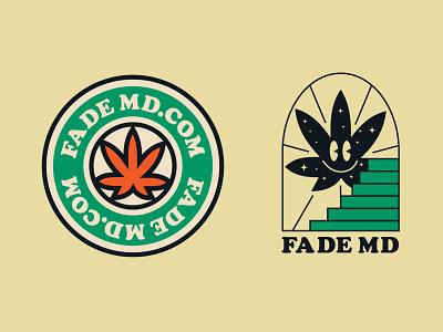 FadeMD logo concept illustration branding retro cannabis logo cbd logo weeds brand weed logo medical marijuana cbd marijuana cannabis design vintage logo design cannabis branding marijuana logo logotype logo