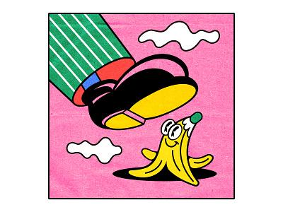 Get Lucky! 30s 90s pop culture cartoon lucky comic banana rubberhose lowbrow old school 1930 illustration 1930s vintage old cartoon cartoon character