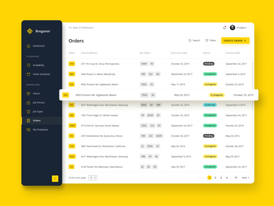 Order list dashboard product design table light mode sidenav side menu sidebar order management order list webdesign dashboard ux dashboard ui dashboad ux ui