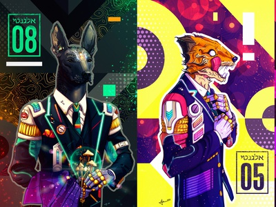 Elegant #08 & #05 psychedelic space elegant storytelling character design awaken spiritual illustraion conceptart