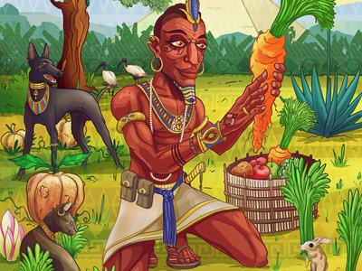 A Vegetable Romance vegan illustration vegan design vegan storytelling game art character design spiritual psychedelic awaken illustraion conceptart