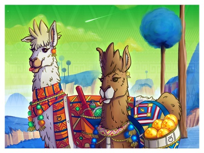DB LLammas dragonball vegan game art character design spiritual psychedelic awaken illustraion conceptart