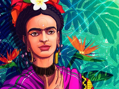 Deva Frida storytelling vegan design vegan game art character design spiritual psychedelic awaken illustraion conceptart