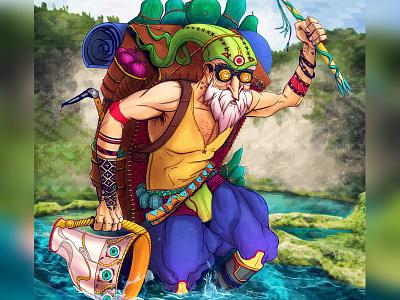 Maracuya Parchita vegan illistration vegan storytelling game art character design spiritual psychedelic awaken illustraion conceptart