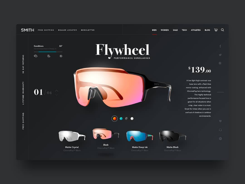 Smith Optics UI Concept uidesign uxdesign