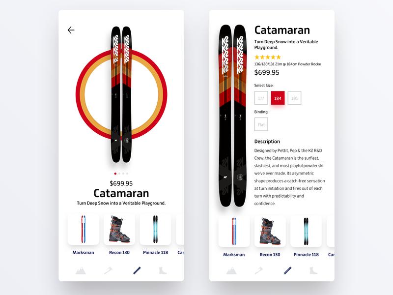 K2 Skis Concept ux design uiux user interface uidesign uxdesign ui