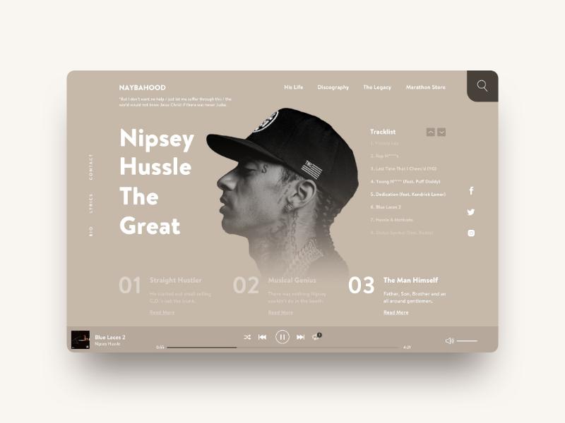 Nipsey Hussle Tribute. ux ui