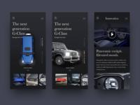 Mercedes Benz G-Class UI Concept