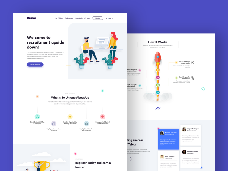 Talegri Landing Page uxuidesign landing page concept user interface ui