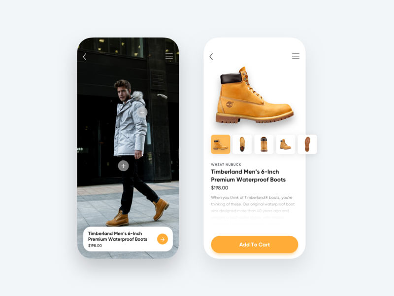 Timberland 6-Inch Boot ux design ux user interface design sketch sketchapp user experience design uiux ui design user interface ui