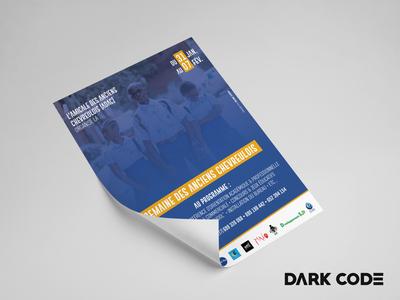 Semaine des Anciens Chevreulois   Poster Design (Part.2) cameroun cameroon event branding print design print poster education gold event illustration branding design dark code