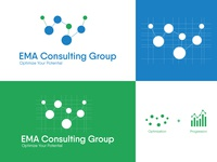 Logo Design for EMA Consulting Group management company logo brand identity branding design logotype enterprise optimisation graphic design graphicdesign conception cameroun visual identity logogrid grid design grid logo illustrator logo design dribbble dark code