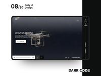 Dark Code Daily UI 30 - Day 08