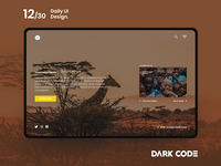 Dark Code Daily UI 30 - Day 12