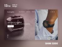 Dark Code Daily UI 30 - Day 13