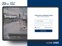 Dark Code Daily UI 30 - Day 22
