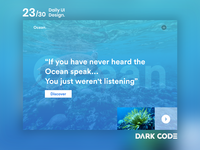 Dark Code Daily UI 30 - Day 23