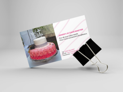 Business Card for a Pastry Chef branding pastry graphic design designer design dark code creative corporate cake business card brand agency