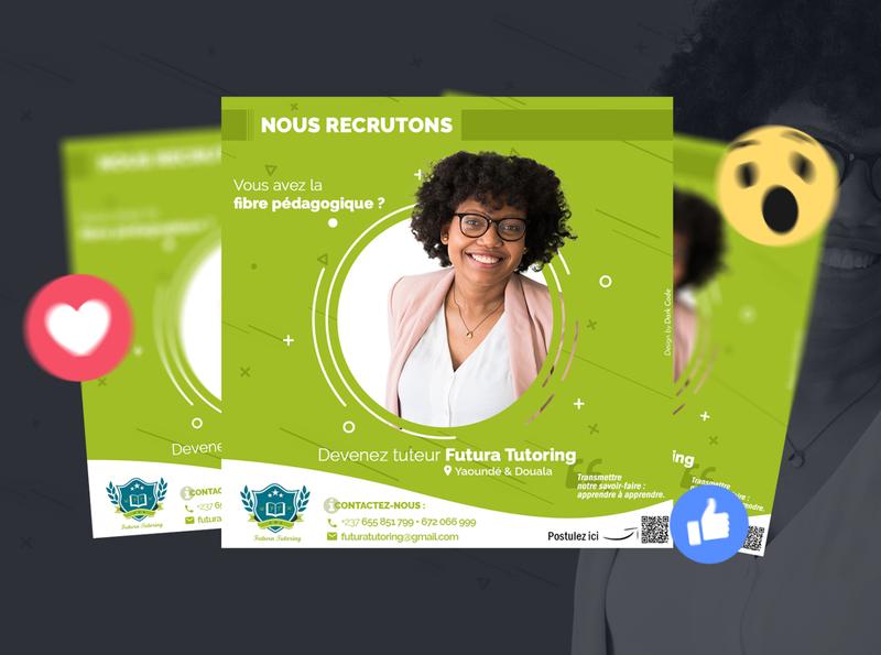 Social Media for teachers hiring photoshop social dribbble darkcode tutoring school socialmedia social media graphic design design cameroon dark code