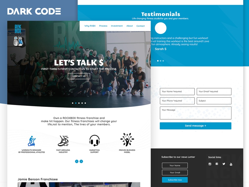 Fitness Landing Page - Redesign Proposal redesign creative agency landing page website cameroon design interface design ux ui design uiux design dark code