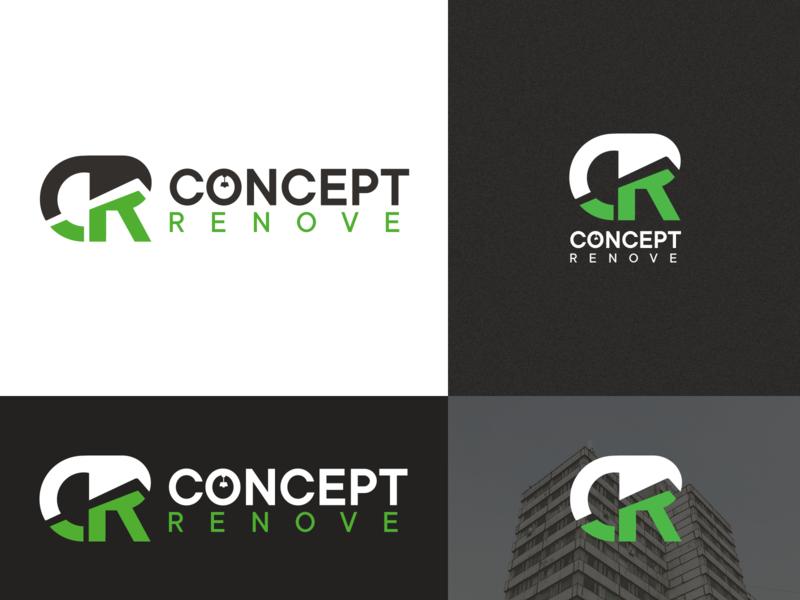 Logo Design for Concept Renove — Part 1 cameroon darkcode dark code logotype branding design creative logo concept cr home house architecture lettermark visual identity logo design logo brand identity branding