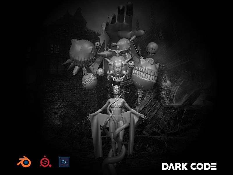 Puppet Master darkcode cameroon 3d art puppet photoshop substancepainter blender3dart blender 3d blender3d happyhalloween halloween design halloween puppets dribbble dark code