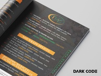 Menu Brochure for D-Fit (Diet Restaurant)