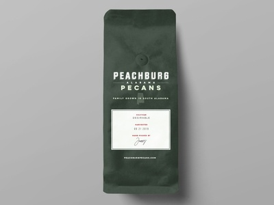 Peachburg Pecans Packaging